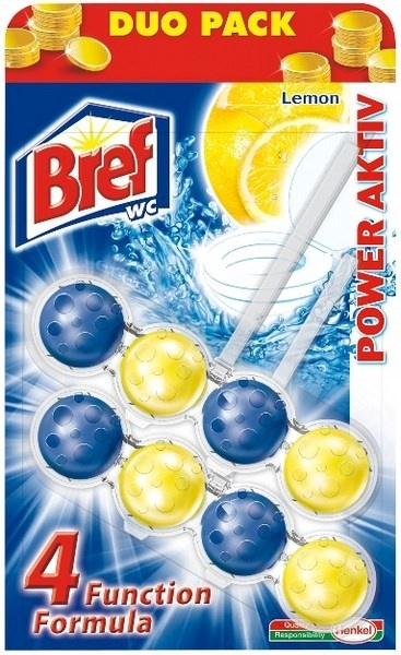 Bref Power Activ Lemon WC Blok 2x50g