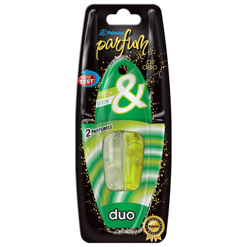 Paloma Parfum Duo Fresh Green osviežovač vzduchu do auta 5ml