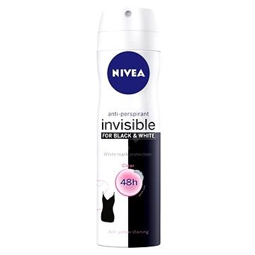 Nivea Invisible for Black & White Clear deospray 150 ml