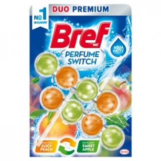 Bref Perfume Switch Juicy Peach & Sweet Apple tuhý WC blok 2x50g