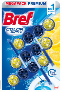 Bref Color Aktiv Lemon WC Blok 3x50g