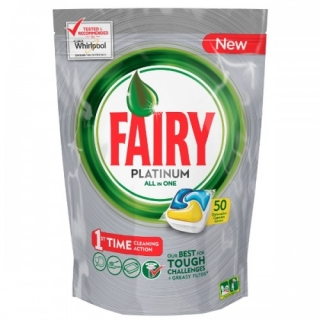 Fairy Platinum All in One kapsule do myčky 63ks