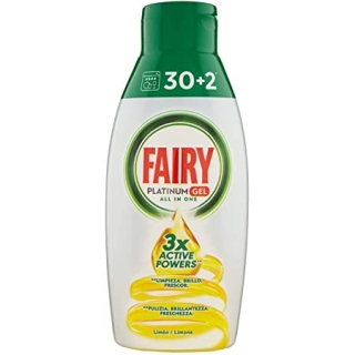 Fairy Platinum 3x Active Lemon Power gél do umývačky riadu 650ml