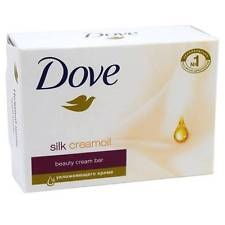 Dove Silk Cream Oil tuhé mydlo 100g