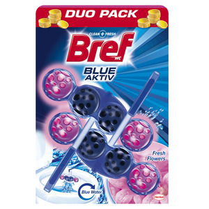 Bref Blue Active Fresh Flower WC Blok 2x50g