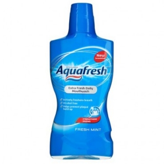 Aquafresh Fresh Mint Antibakteriálna ústna voda 500 ml