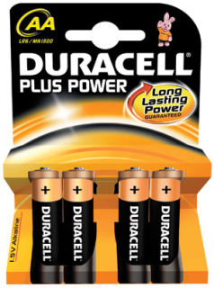 Duracell Plus Power baterky AA 4ks