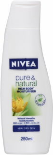 Nivea Pure & Natural telové mlieko 400ml