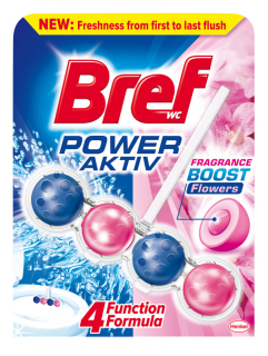 Bref Power Aktiv Fragrance Boost Flowers WC Blok 50g