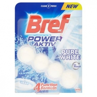 Bref Power Aktiv Pure White WC Blok 50g