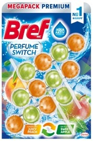 Bref Aqua Aktiv Juicy Peach & Sweet Apple WC Blok 3x50g