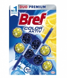 Bref Color Aktiv Lemon tuhý WC blok 2x50g