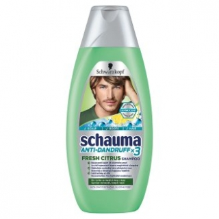 Schauma Men X3 Fresh Citrus šampón na vlasy 400ml