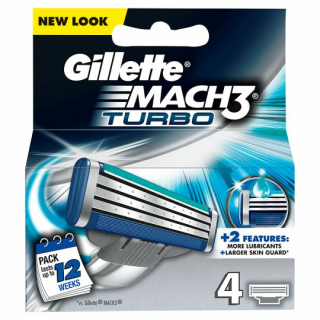 Gillette Mach3 Turbo čepielky 4ks