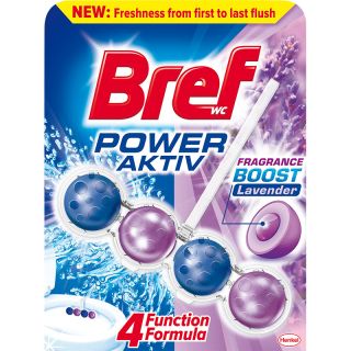 Bref Power Aktive Fragrance Boost Levander WC Blok 50g