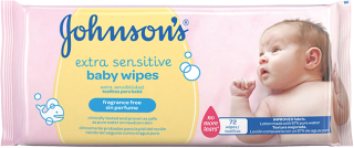 Johnson´s Extra Sensitive vlhčené utierky 56ks