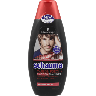 Schauma Men Carbon Force 5 šampón na vlasy 400ml